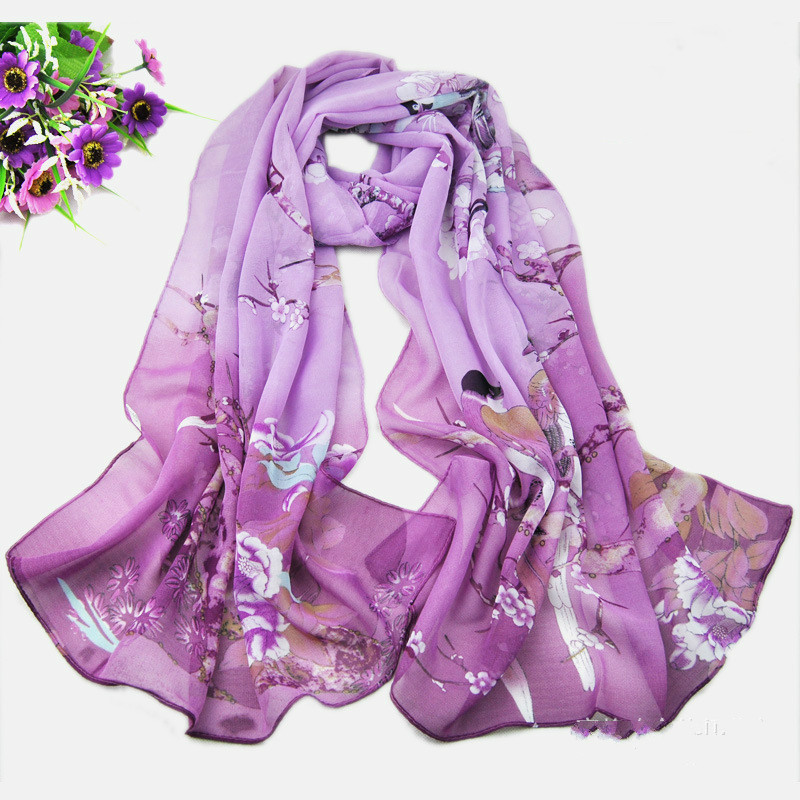 Fashion   Scarves   For Women Long Leopard Shade Shawl   Scarf     Wrap   Chiffon Scarve Casual Magpie Primrose Printing   scarves