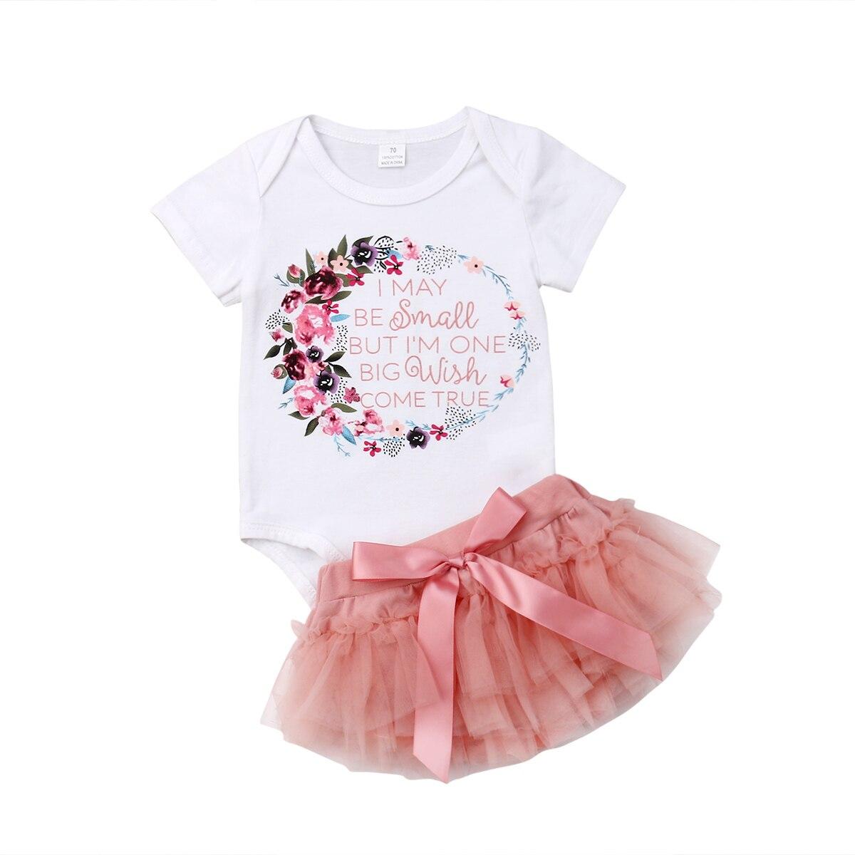 c25548fc4 Pudcoco 2019 Summer Kids Baby Girls Toddler Romper Short Sleeves Tops +  Skirt Tutu Pink 2PCS