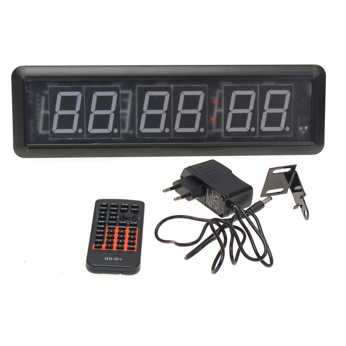 Multifunction Fitness Timer Led Wall Clock Mute Large Decorative Vintage Watch with Remote for Gym Fitness Training