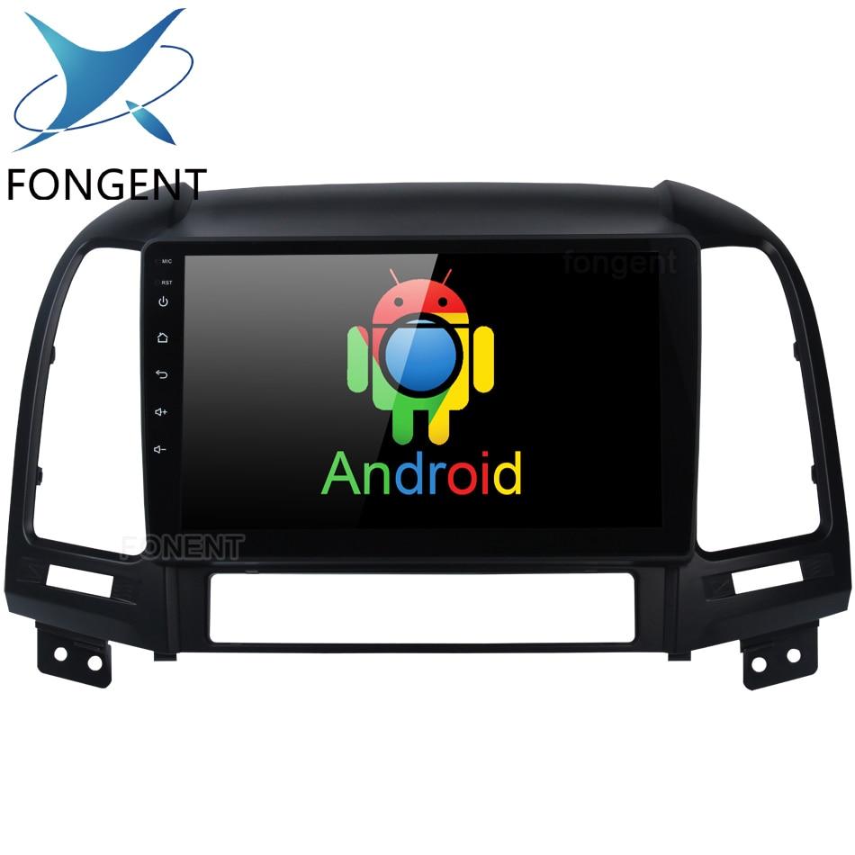 Fongent 9 IPS Écran Android 8.0 Système Unité pour Hyundai Santa Fe 2006 2007 2008 2009 2010 2011 De Voiture multimédia GPS Navigation