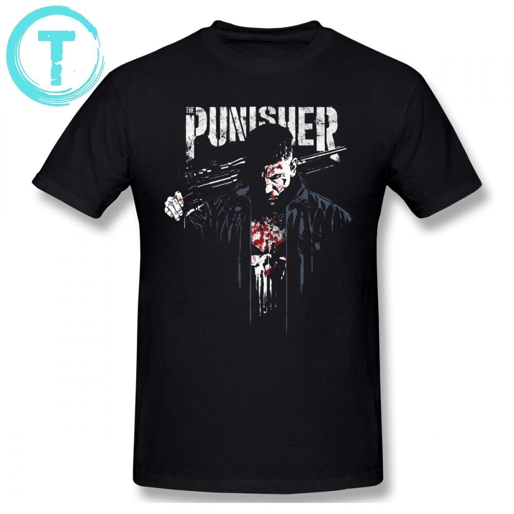 Punisher T Shirt Jon Quesada Cover Art T-Shirt Print 6xl Tee Shirt Short-Sleeve Fun Streetwear 100 Cotton Mens Tshirt