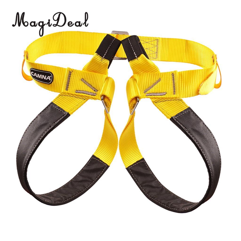 Outdoor Rock Climbing Caving Safety Harness Half Body Waist Leg Protect Belt