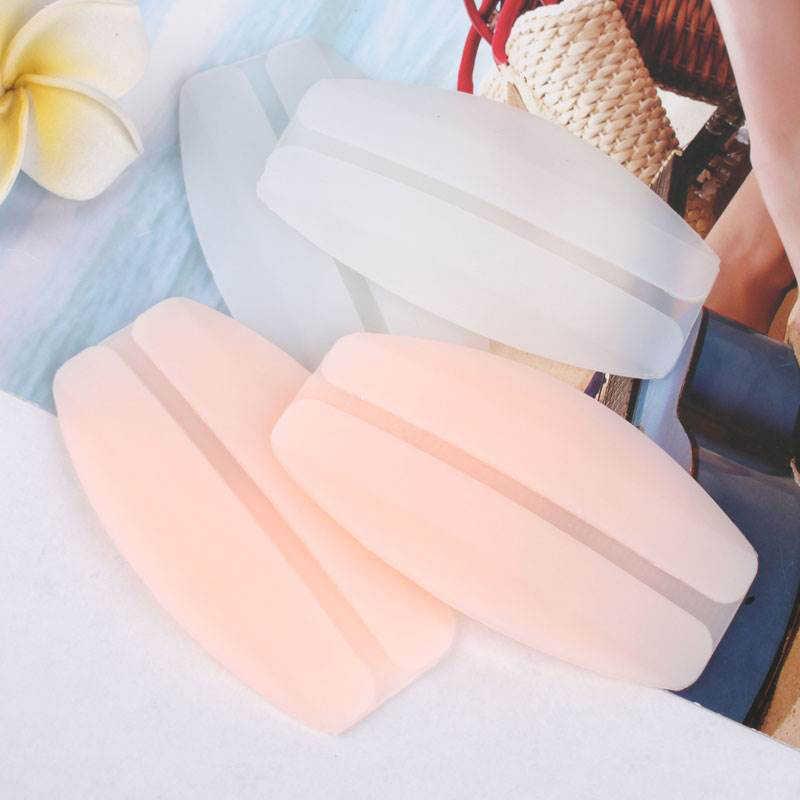 אלרגיה משלוח סיליקון התגנבות זוהרה החלקה התנגדות כתף כרית רך חזיית רצועת עור באיכות גבוהה צבע לבן מכירה לוהטת 1 זוג