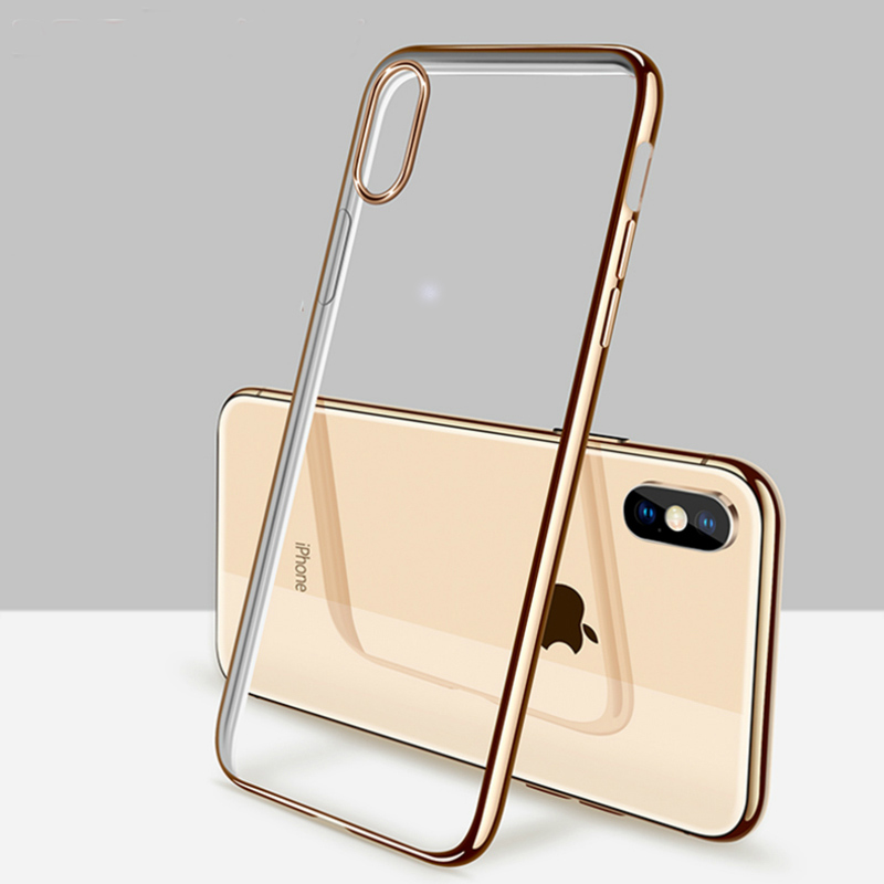 Luxury Case For IPhone XS MAX XR X 8 Plus 5 5S SE 6 6S Plus 7 Plus Ultra Thin Crystal Rubber Plating TPU Back Case Cover Coque