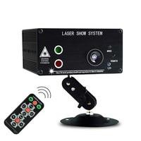 3 Lens RG Luz Laser Padrões 48 3 w LED Azul Luz Do Estágio Do Projector Stage Lighting Effect Mini RGB DJ projetor Laser