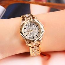Women Chic Quartz Watch Fashion Bling Casual Ladies Female Gold Waterproof Crystal Diamond For Clock