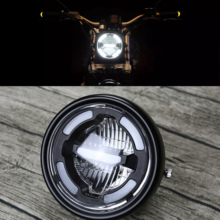 Universal Motorcycle Headlamp Day Time Light Front