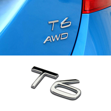 цена на 1Pcs 3D Metal AWD T5 T6 Polestar Car Side Fender Rear Trunk Emblem Badge Sticker Decals For Volvo S60L XC60 V40 XC90 S60 S80 S90