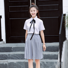 Female school uniforms set new fashion Feng Shui Shoufu male student cos performance shirt skirt suit