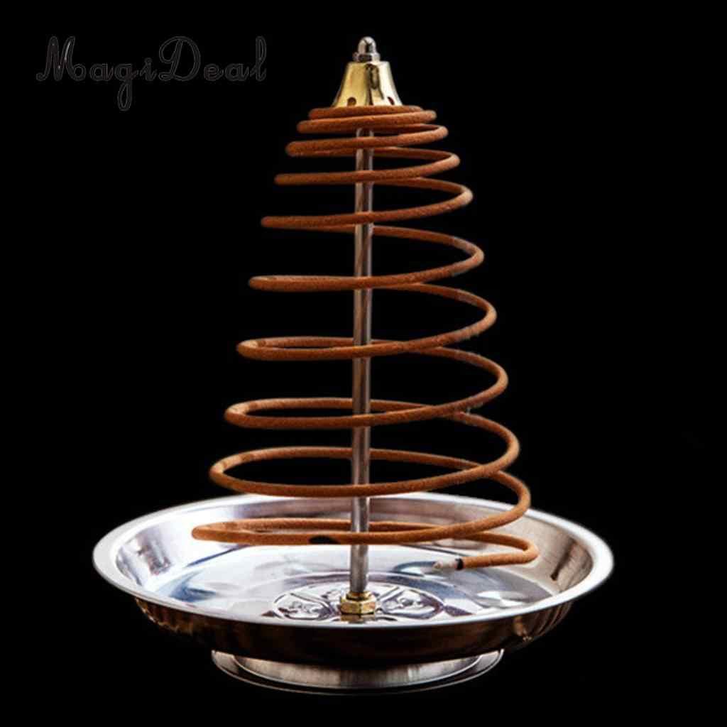 MagiDeal, quemador de incienso metálico de reflujo, decoración creativa para el hogar, soporte de incienso, bobinas de incensario, quemador de conos, 5 estilos de selección