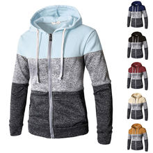 2019 Newest Men Zip Up Casual Elastic Sweater Coat Tops Jacket Outwear Sweater Jogger Zipper Men Autumn Winter Hoody Sweatercoat
