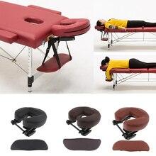 Ayarlanabilir yükseklik yüz Cradle + köpük yüz dinlenme aşağı yastık + PU deri kol destek yastığı seti masaj masa yatak