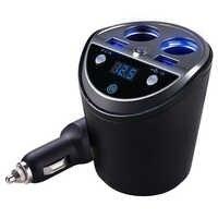 Bluetooth Wireless Car Fm Transmitter Mp3 Player Cup Holder Handsfree Car Kit Fm Radio Dual Usb Car Cigarette Lighter Port