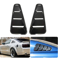 1 Pair For Mustang 2005 2009 1/4 Quarter Side Window Louvers Scoop Cover Vent