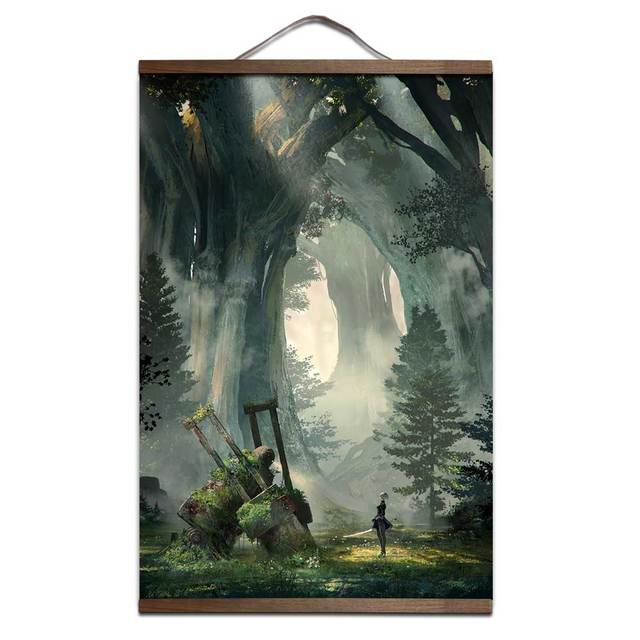 NieR:Automata poster for HD canvas posters interior decoration painting with solid wood hanging scroll Sale-Seller