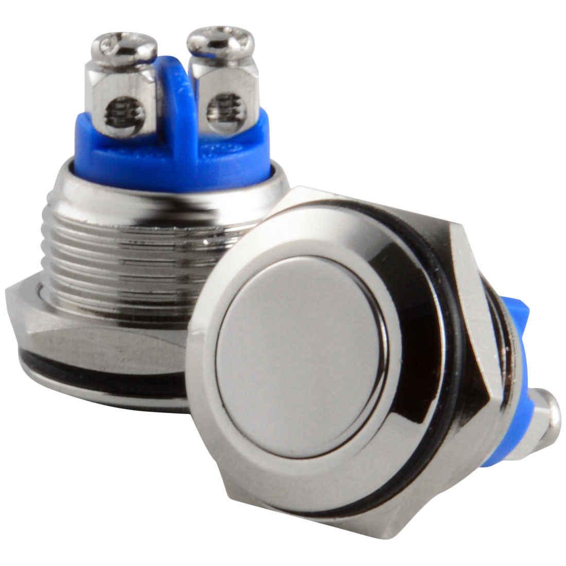 16 ミリメートルスタータースイッチ/ボート瞬間的なプッシュボタンステンレス鋼金属防水