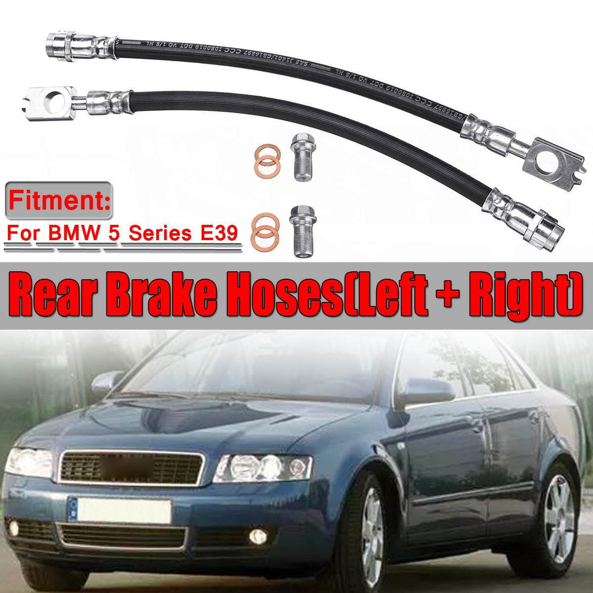 2pcs Car Rear Axle Brake Hoses Line Tube For AUDI A4 B6 B7 With Fittings Brake System 8E0611775H 8E0611775N 20008257