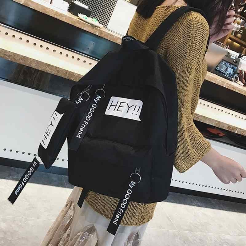 Harajuku Delle Donne Dello Zaino di Stile di Gusto Squisito Zaino della Tela di Canapa Casual Borse da Scuola