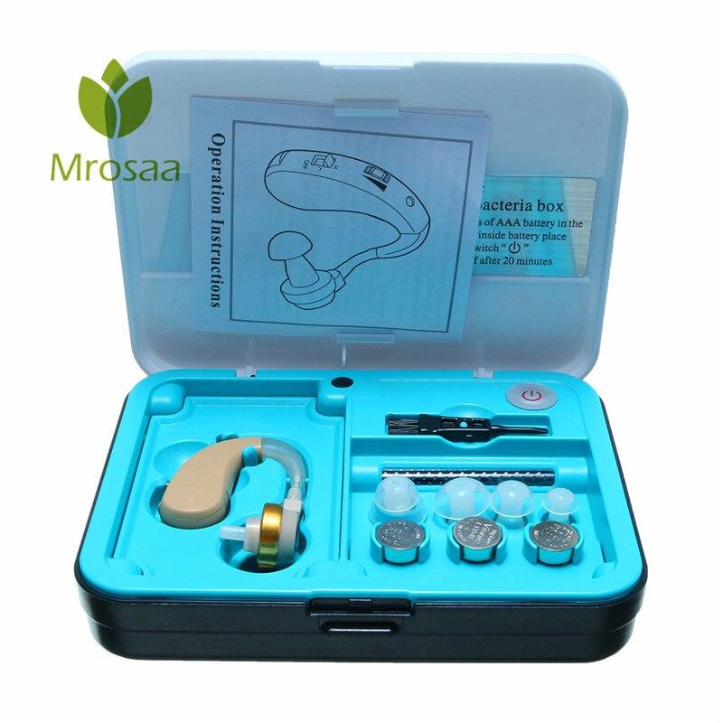 Digital Ear Hook BTE Hearing Ear Aid Kit Anti Bacteria Sound Voice Amplifier Family Elder Parents