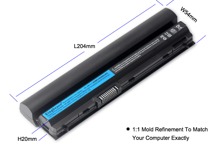 KingSener 11.1 V 6000 mAh Nouvelle RFJMW batterie d'ordinateur portable Pour DELL Latitude E6320 E6330 E6220 E6230 E6120 FRR0G KJ321 K4CP5 J79X4 7FF1K - 5