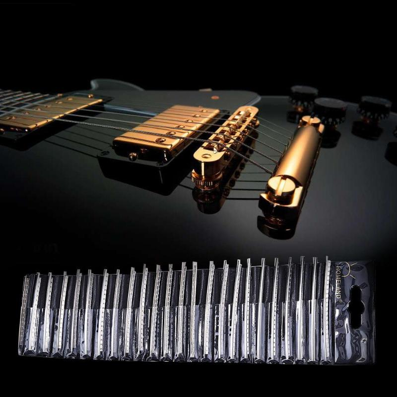 Stringed Instruments Selfless 24pcs/pack Copper Electric Guitar Fret Wire Silver Guitar Fingerboard Fretwire Acoustic Parts Accessories