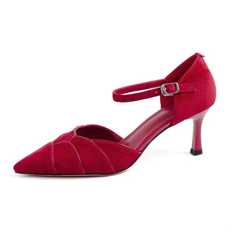 Fiesta Carole rojo Chicas Verano Zapatos Primavera vino Nueva Moda Tinto rosa Negro Punta Mujer Individuales Levy rosado De 2019 negro Bailando Bombas O7ArwqxOT