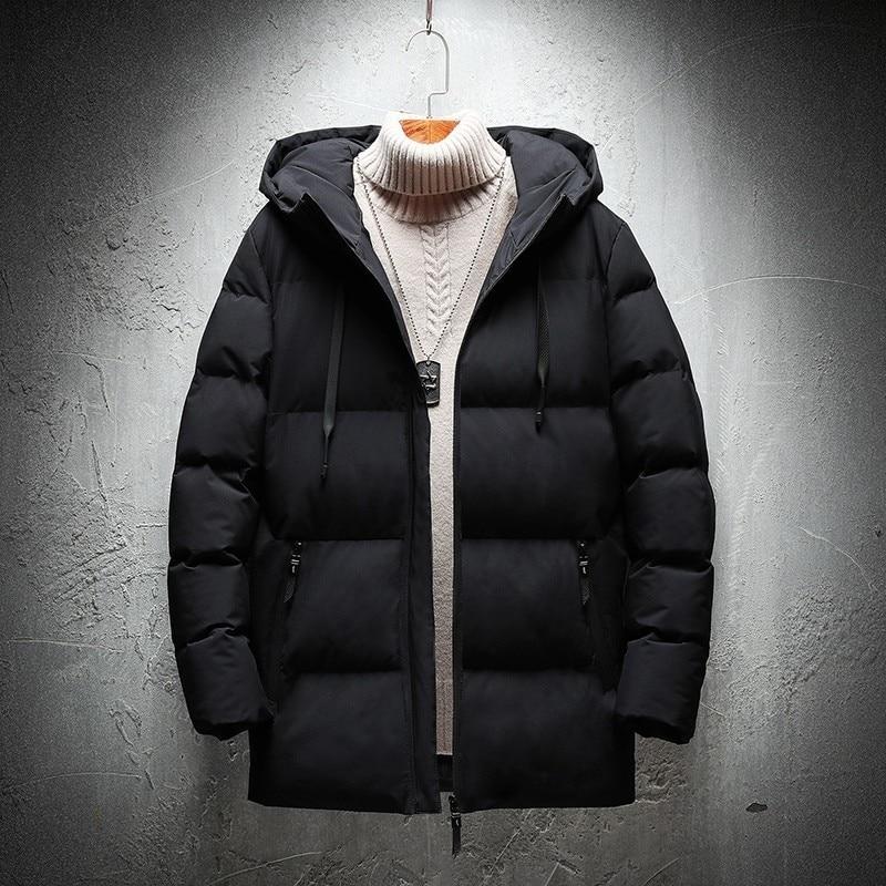 Winter Thick   Parkas   For Men 2018 New Epaulet   Parka   Jacket Men Brand Solid Pocket -20 Degree Warm   Parka   Men M-5XL