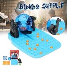 90 мячей 48 карт традиционный лото «бинго» лотерейный набор семейных игр-клетка шары карты счетчики Вечерние игры бинго Счастливая игра в шары