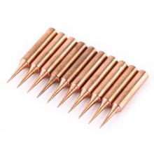 High Quality 10Pcs/set Pure Copper Low Temperature Soldering Iron Solder Tips Station Tool 900M T I New