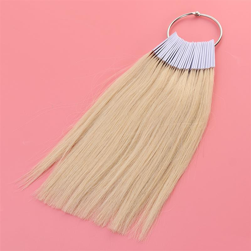 Top Sale30pcs Hair Color Rings Human Hair Swatches Testing Color Samples (3 Degree Color)