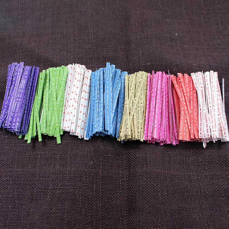 Candy Bag Packaging Ligation Lollipop Dessert Accessories 100Pcs Kitchen Gadgets Wire Metallic Twist Ties Cake Gift Twist Tie