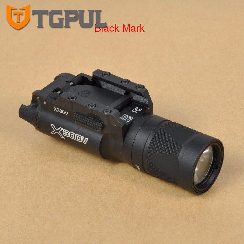 TGPUL Tactique X300V Pistolet lampe de Poche Stroboscopique Arme Légère LED 500 Lumen Pistolet Airsoft Chasse Tir Rail X300 Série Lumière