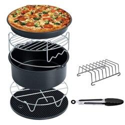 Best Air Fryer Accessories Deep Fryer Universal, Cake Barrel, Pizza Pan,Mat, Skewer Rack, holder Fit all 5.3Qt - 5.8Qt(XL)