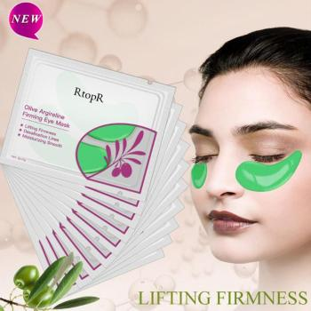 1 Pair Olive Essence Firming Eye Mask Moisturizing Smooth Lifting Firmness Eye Serum Dark Circles Fine Lines Eye Patches