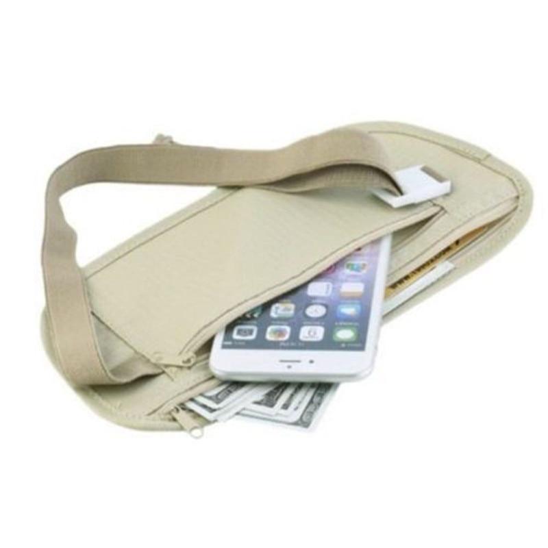 HOT Travel Waist Pouch For Passport Money Belt Bag Hidden Security Wallet Gifts Ultra-thin Hidden Pockets Waist Bag