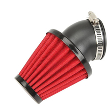 42mm Motorcycle Air Filter Dual Layer Stainless Steel Mesh 45 Angled 150cc-250cc Scooter ATV Dirt Bike
