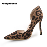 Classical Leopard print Pointed Toe High heeled Shoes Woman Sexy Nightclub Thin Heel Shoes Size 33 34 41 Girls Shoes