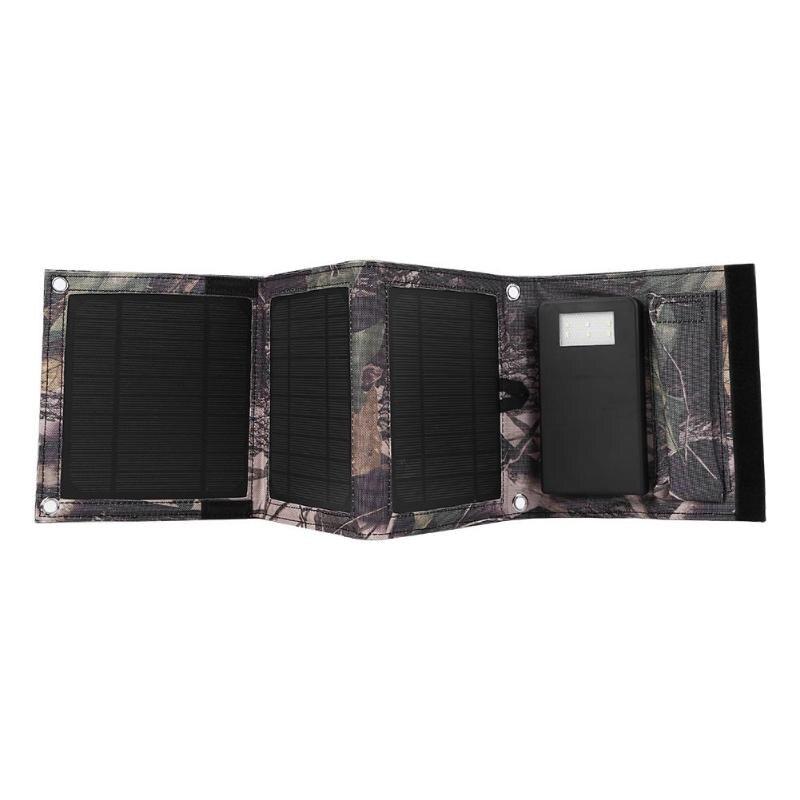 Portable toile pliable panneau solaire chargeur 8 W Mobile batterie externe pour téléphone batterie charge en plein air voyage voyages Camping randonnée