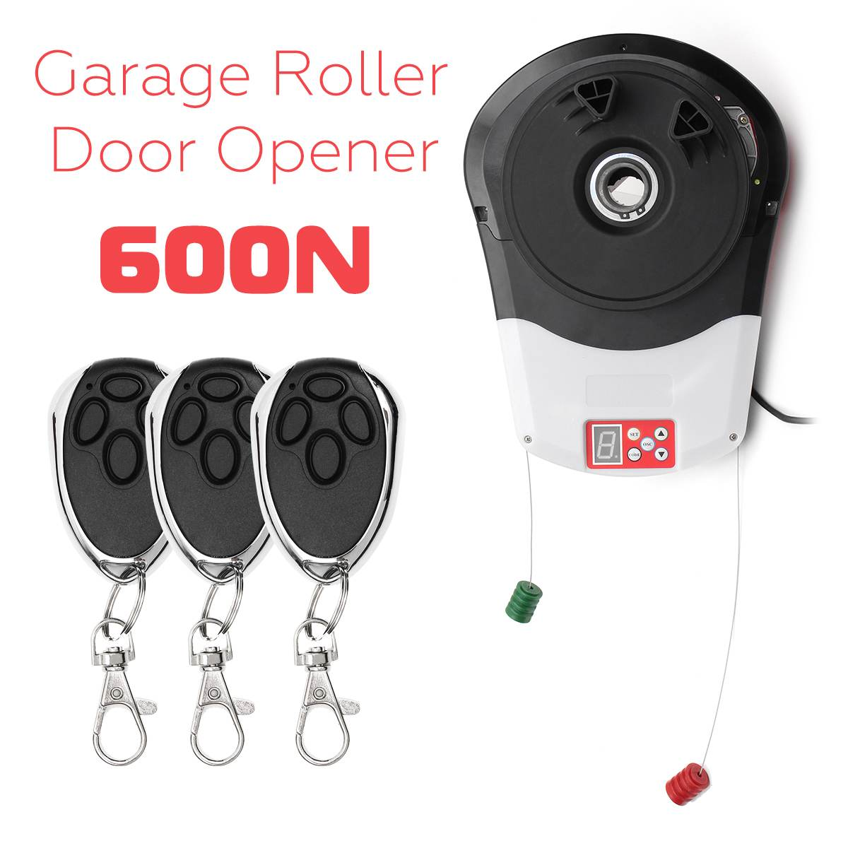 110V 600N Garage Roller Door Auto Opener Motor with 3 Remote Control Electric Operator for Rolling Gate Automatic Door Operators110V 600N Garage Roller Door Auto Opener Motor with 3 Remote Control Electric Operator for Rolling Gate Automatic Door Operators