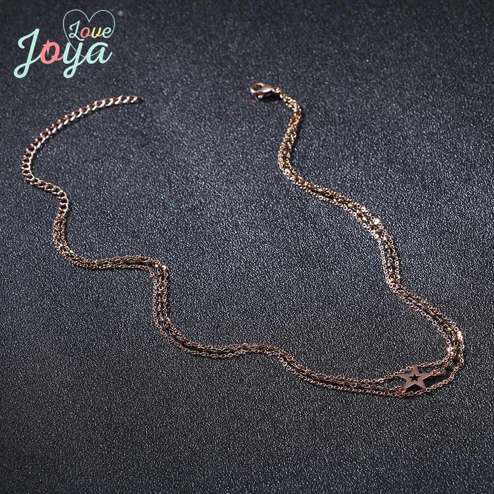 Badu الفولاذ المقاوم للصدأ المألوف متعددة طبقة المختنق قلادة للنساء بوهو الخماسي قلادة قلادة المجوهرات بالجملة