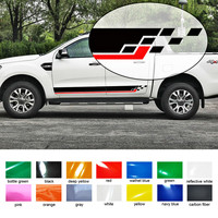 free shipping racing styling side door stripe graphic vinyl car sticker for Ford ranger 2012 2013 2014 2015 2016 sticker