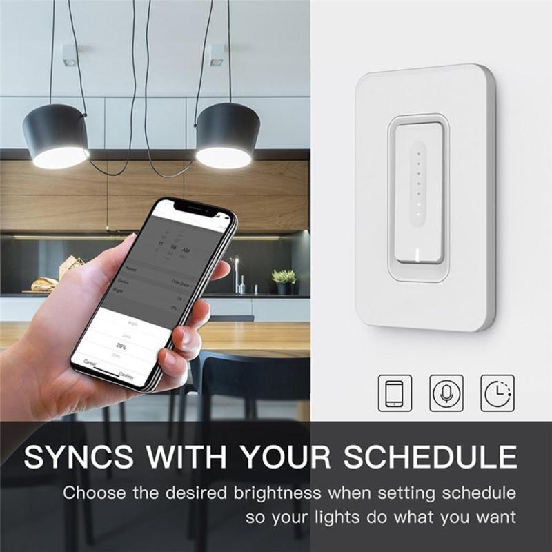 Interrupteur de commande tactile intelligent gradateur de lumière WiFi interrupteur tactile de montage mural avec AC 100-240 V 50/60 hzveille deux Types de contrôle - 2