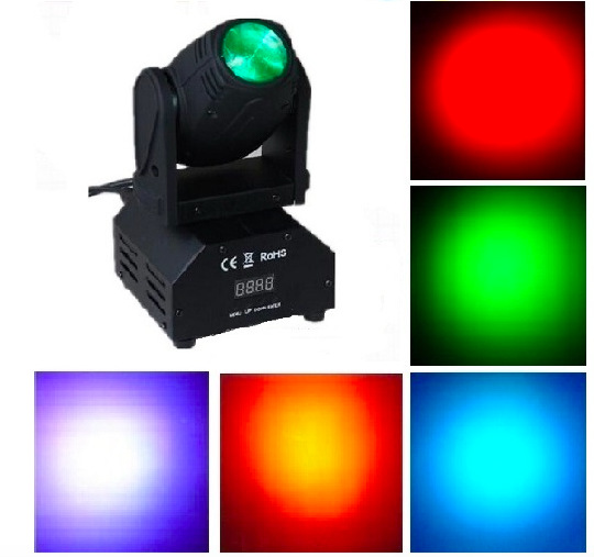 4pcs/lot, Cree LED Moving Head Beam 10W Light White / RGBW mini wash Spot Gobo Effect Light stage Lighting DJ