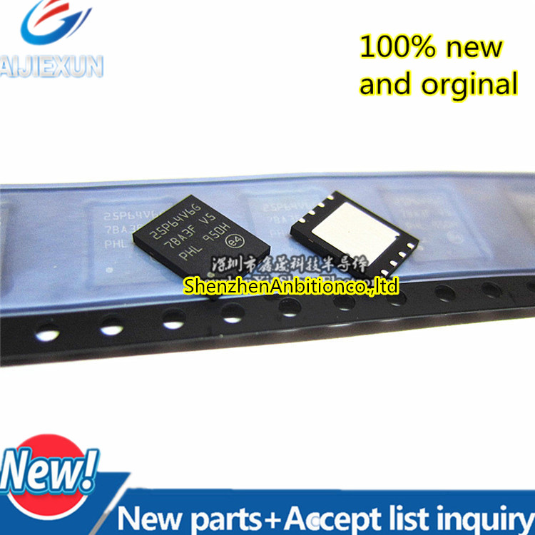 1pcs New And Orginal M25P64-VME6TG 25P64V6G VDFPN8  M25P64  64 Mbit, Low Voltage, Serial Flash Memory In Stock
