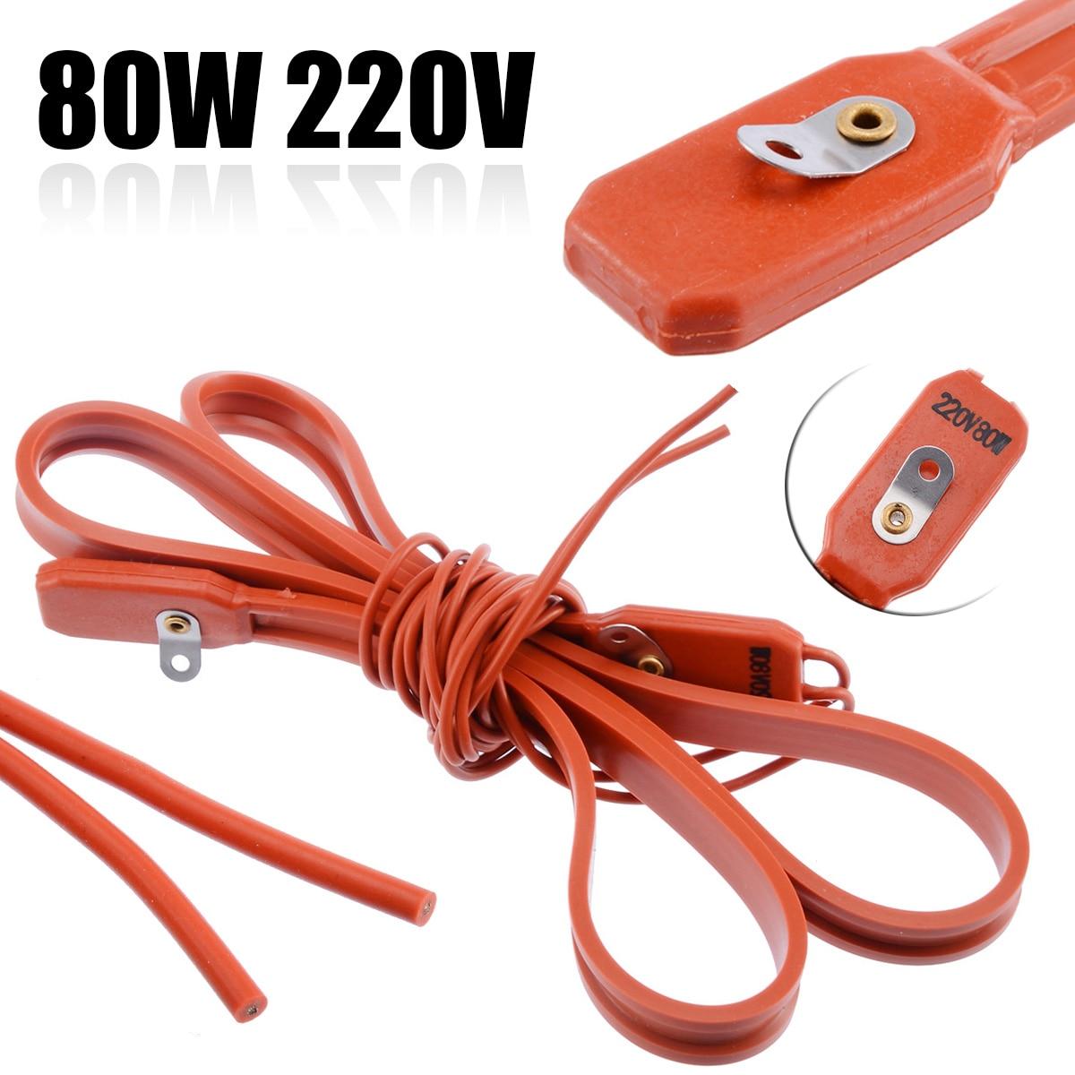 80W 220V Silicone Brew Heater Strip Belt Heating Belt For Wine Beer Spirit Fermentation Pail Good 1.5cm Length