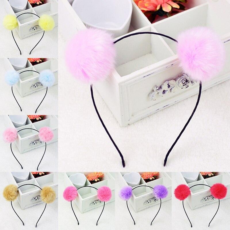 Adjustable Fuzzy Ball Hair Rope Hairy Valentines Gift Colours Wedding 1pc Elastic Pearl Korean Sunday Angora Yarns Imitation Fur Always Buy Good Apparel Accessories