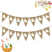 Adeeing 2,5 м продана Цвет с рисунком кролика висит строка для пасхи вечерние декор, фото, реквизит