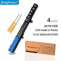 KingSener 4cells A41N1308 Laptop Battery For ASUS X551C X551CA X551M A31N1319 0B110 00250100M X45LI9C A31LJ9X 451CA X551CA X551C