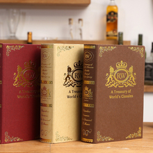 3PCS European Decorative Bronzing Vintage Props English Fake Bookcase Classical Model Book Decoration