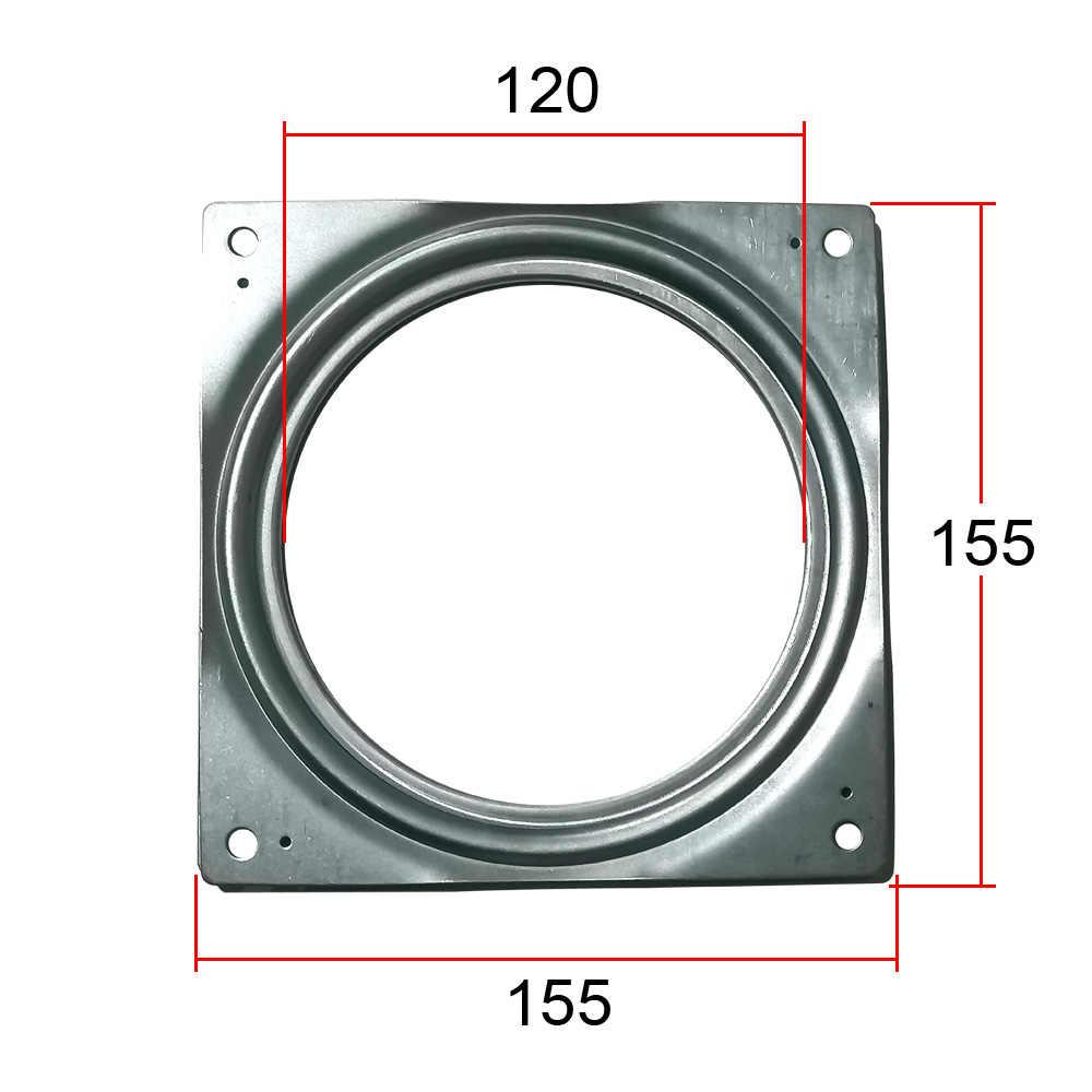 155 milímetros de zinco chapeado 30 kg empuxo rotativo lazy susan tendo mesa de aço galvanizado quadrados chuveiro da tela de TV mesa de jantar placas giratórias